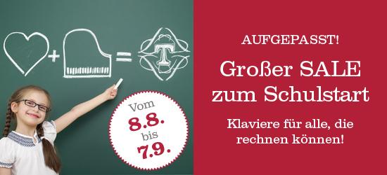 Aufgepasst! Großer SALE zum Schulstart. Vom 8.8. - 7.9.